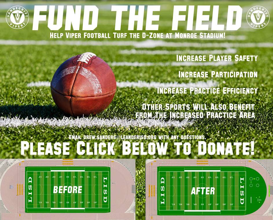 Let's support our @VHSFootball team and other teams that will benefit from the field expansion.