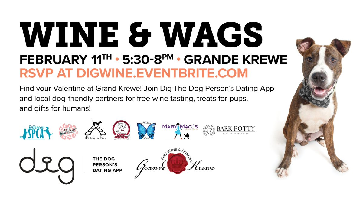 Dig The Dog Person S Dating App On Twitter Wine Wags In New Orleans Tomorrow Get Treated With Wine Tastings Professional Photos Of Your Dog Dog Friendly Games And More 5 30 Take a trip into an upgraded, more organized inbox. twitter