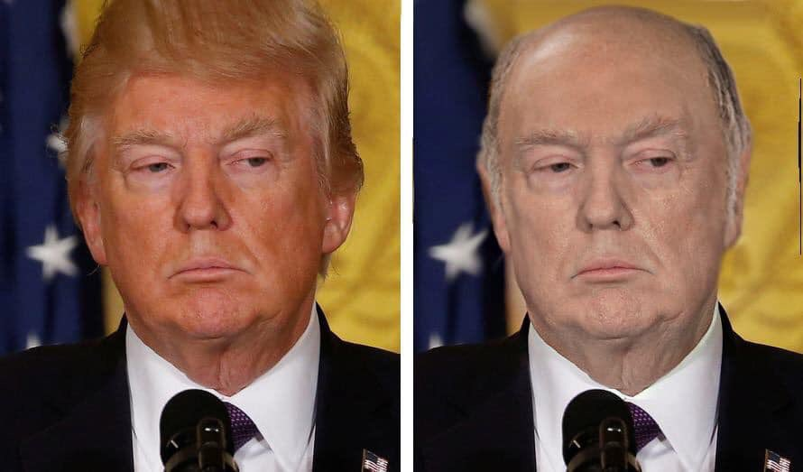 This is what Trump would look like without his spray tan and fake hair. https://t.co/shYB4SiYp8