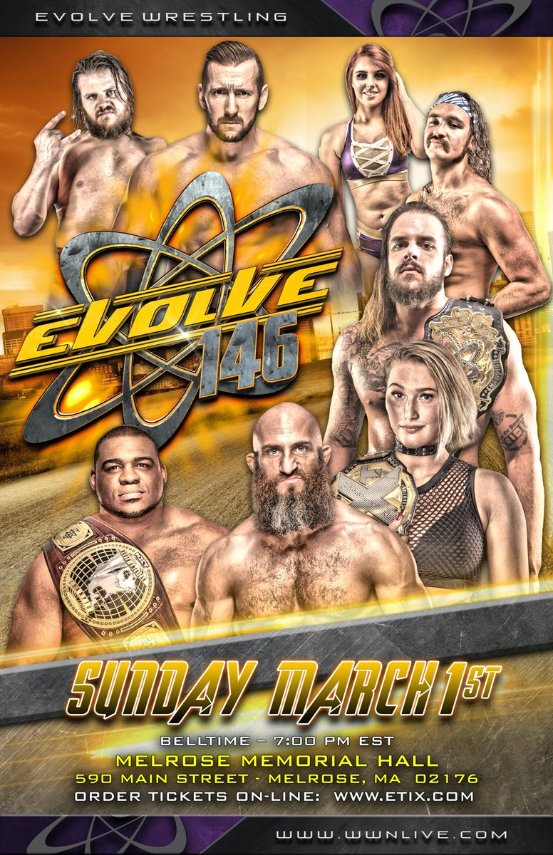 EVOLVE Wrestling Announces Several Matches For EVOLVE 145 & 146, NXT Stars To Appear