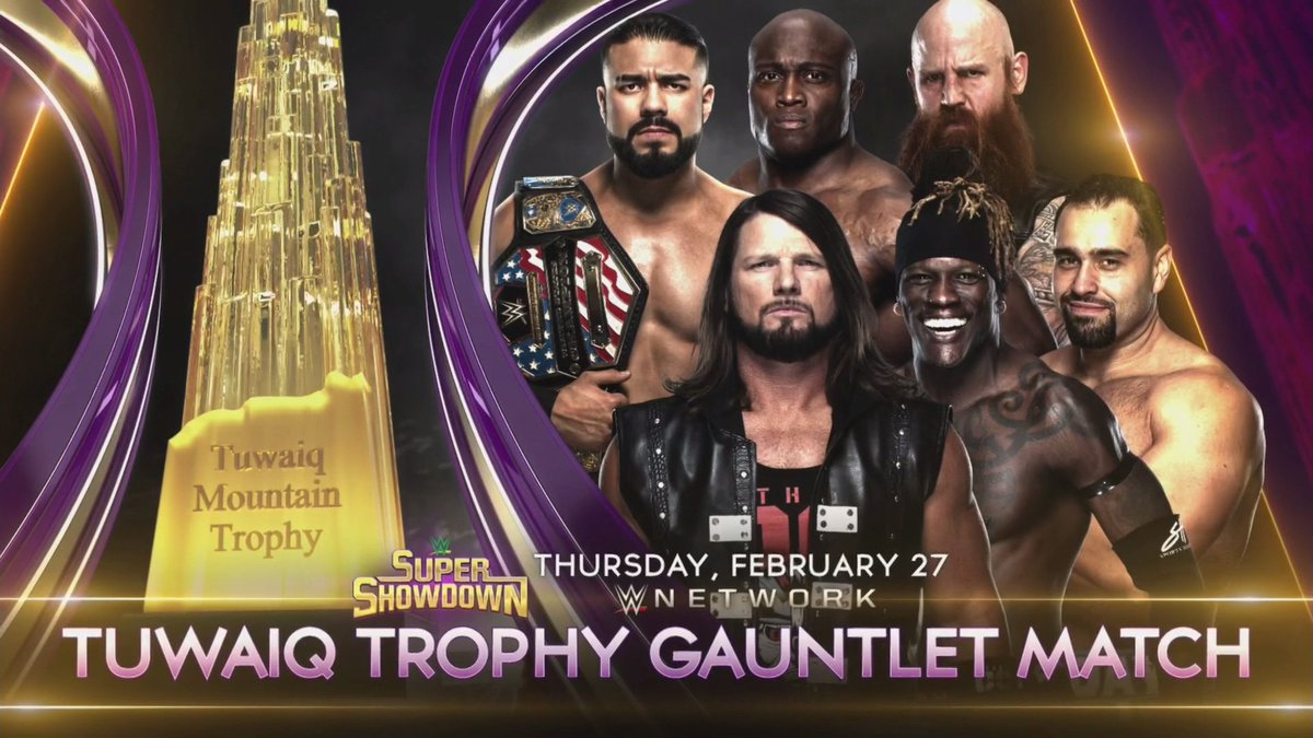 WWE Announces Gauntlet Match For Super ShowDown, Andrade's Return From Suspension