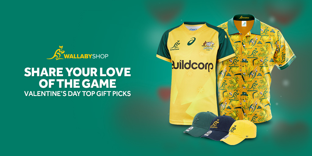 Feel the LOVE this Valentines day with the perfect gift for that special #GoldBlooded fan in your life! 💚💛 SHOP: bit.ly/VDay_Wallabies