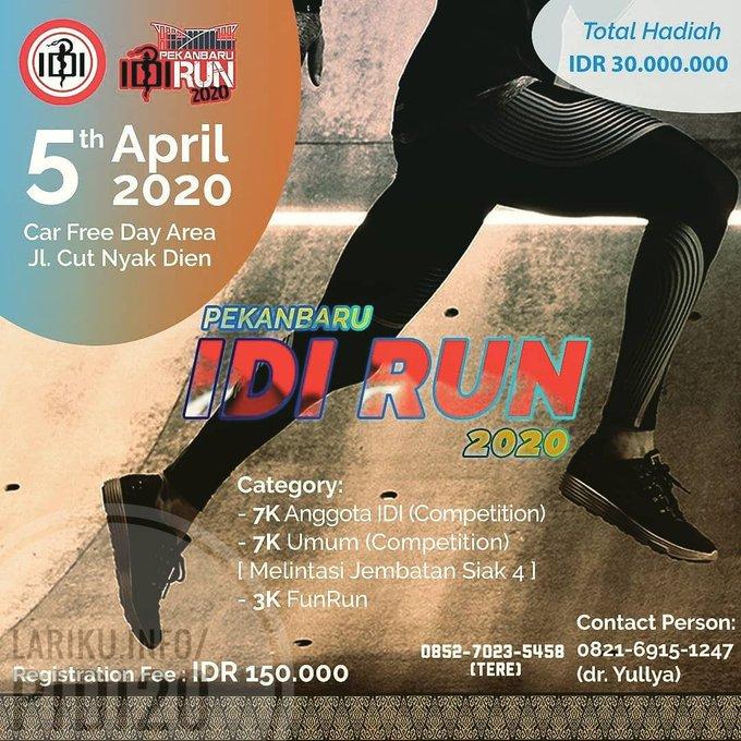 Pekanbaru IDI Run • 2020