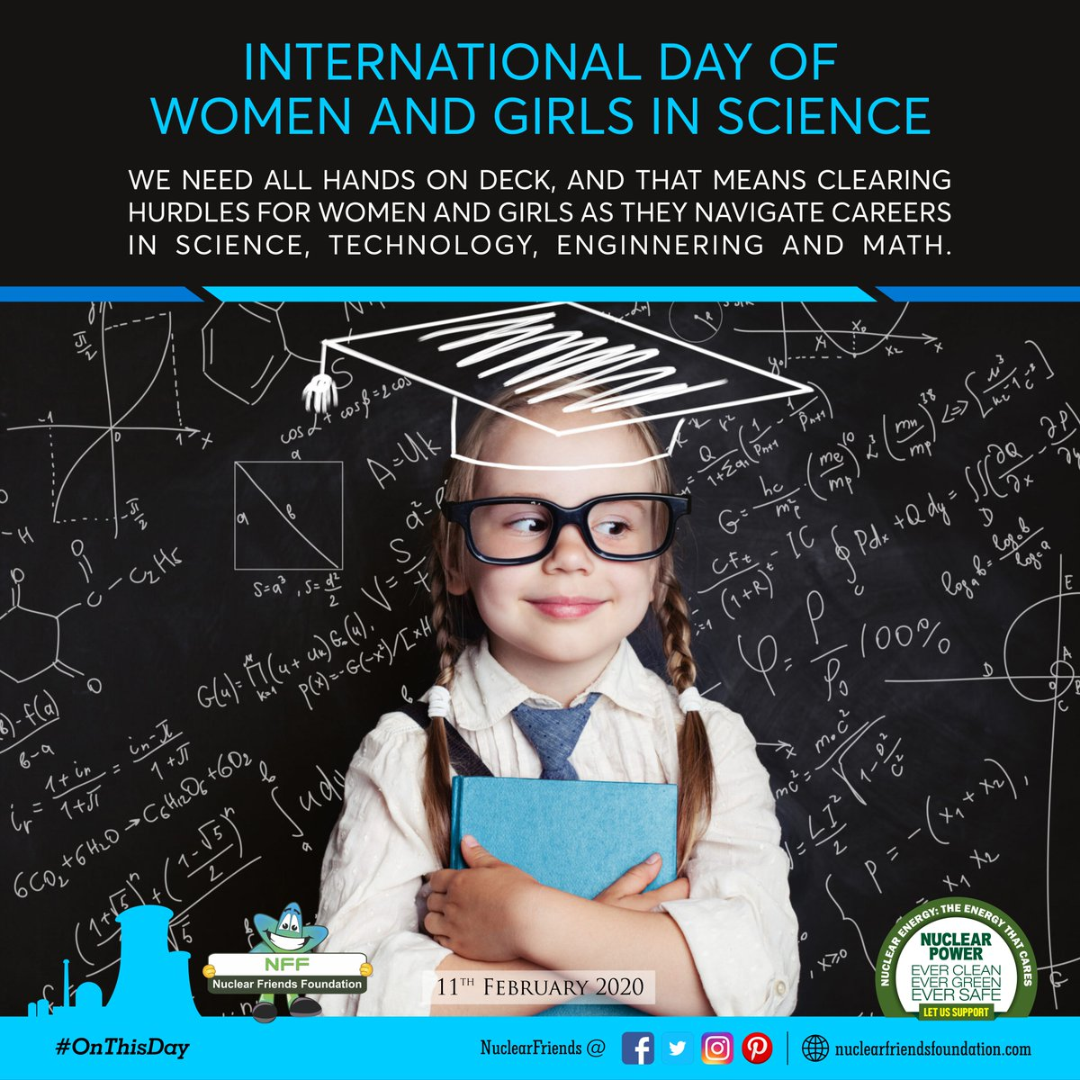 #WomenInScience Today is the International Day of Women and Girls in Science.  👩‍🔬 We need all hands on deck, and that means clearing hurdles for women and girls as they navigate careers in science, technology, engineering and math. #NuclearPower #NuclearEnergy #TuesdayMotivation