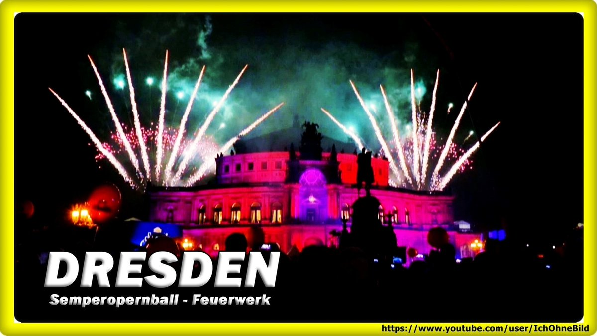 DRESDNER OPERNBALL • SEMPEROPER 2020   https://youtu.be/nD8toAe2WMw  #IchOhneBild #PetNoble #БелКИНО #Festival #Youtube #Instagram #Twitter #Fireworks #Semperoper #Dresden #Opernball #RolandKaiser #PeterMaffay #MDR #ADR #Feuerwerk #SanktPetersburg #Oper #Travel #фейерверкpic.twitter.com/t8jlcETHas