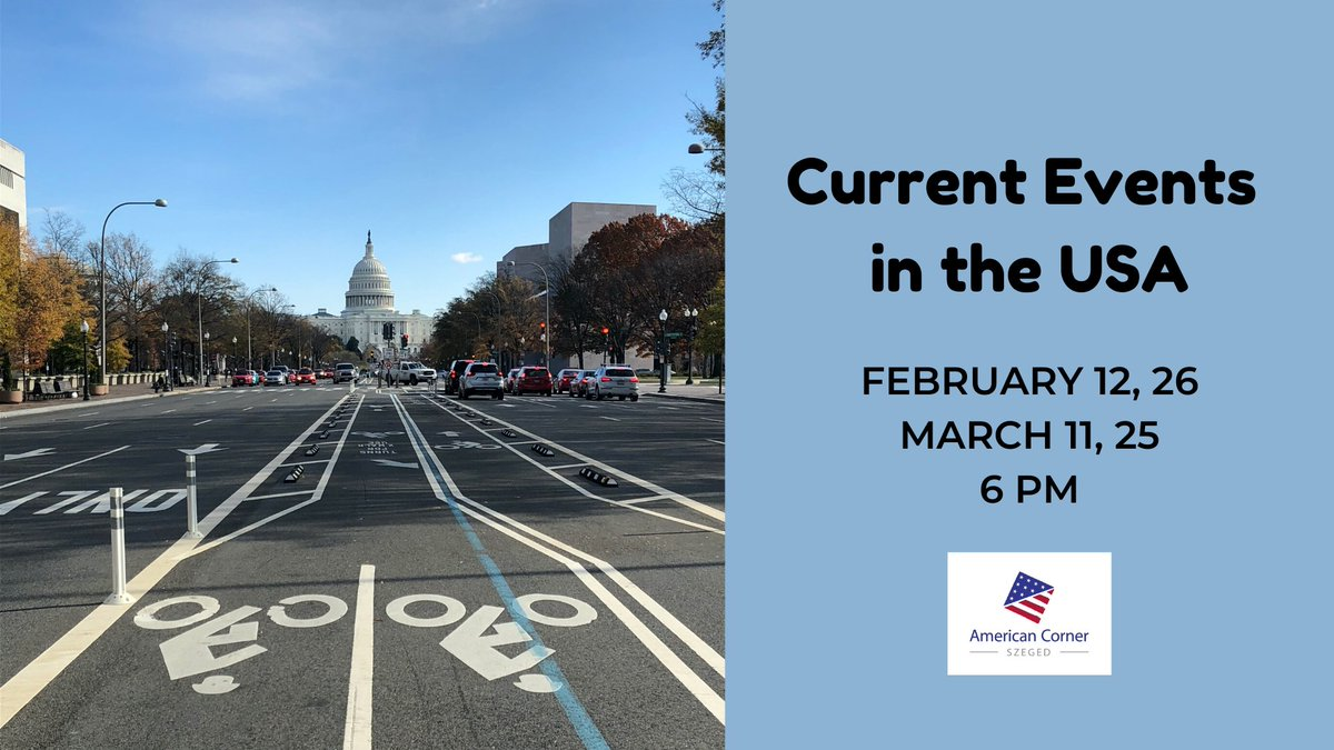 Current Events in the USA 🇺🇸💭  Join the event hosted by American Corner Szeged to learn about the big changes 🔊 🔜 that are happening in the United States 📰  #UniversityofSzeged #AmericanCorner #USA #Hungary #SZTE #Szeged   1
