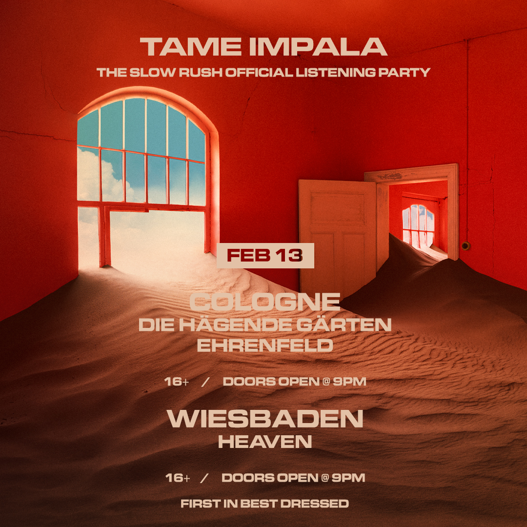 COLOGNE, WIESBADEN, FREIBURG & FRANKFURT!  The Slow Rush listening parties - Thursday Feb 13  Free entry. First Come, First Served.
