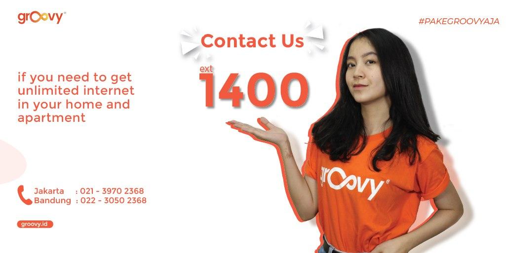 Buat kalian yang butuh internet cepat di rumah dan apartemen bisa banget cus langsung hubungi dgn ext 1400 yayyyyy #internet #pakegroovyaja #makelifeeasier pic.twitter.com/mDUEan8PI9