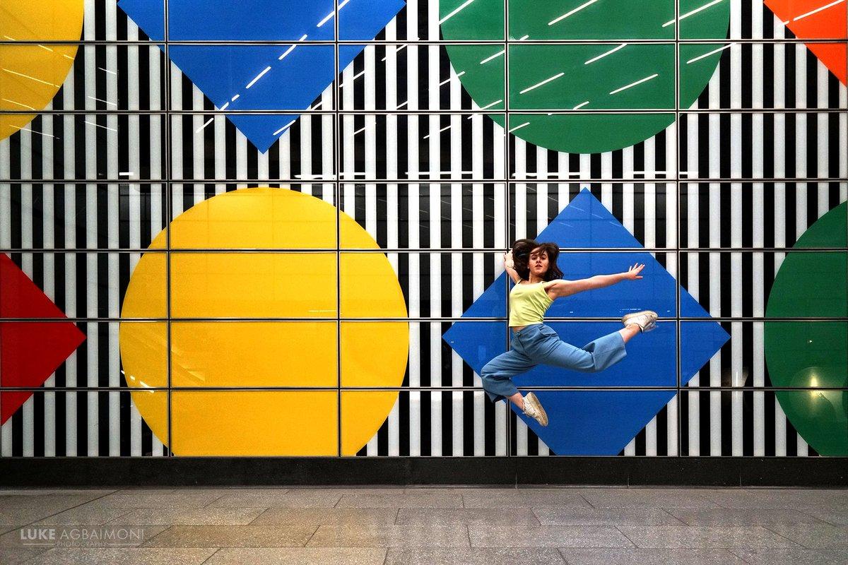 Tube Mapper On Twitter She S A Diamond Dancer Andreya Making Shapes At The Permanent Art Display By Daniel Buren At Tottenham Court Road Station By Luke Agbaimoni Https T Co Tbkiaodjej Https T Co Vfeo4r0rcm