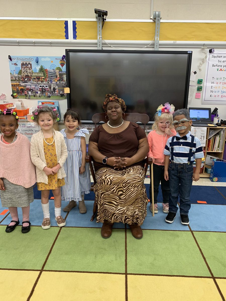 Happy 100th Day!! If this picture makes you smile, thank our Prek grandmas and grandpas.