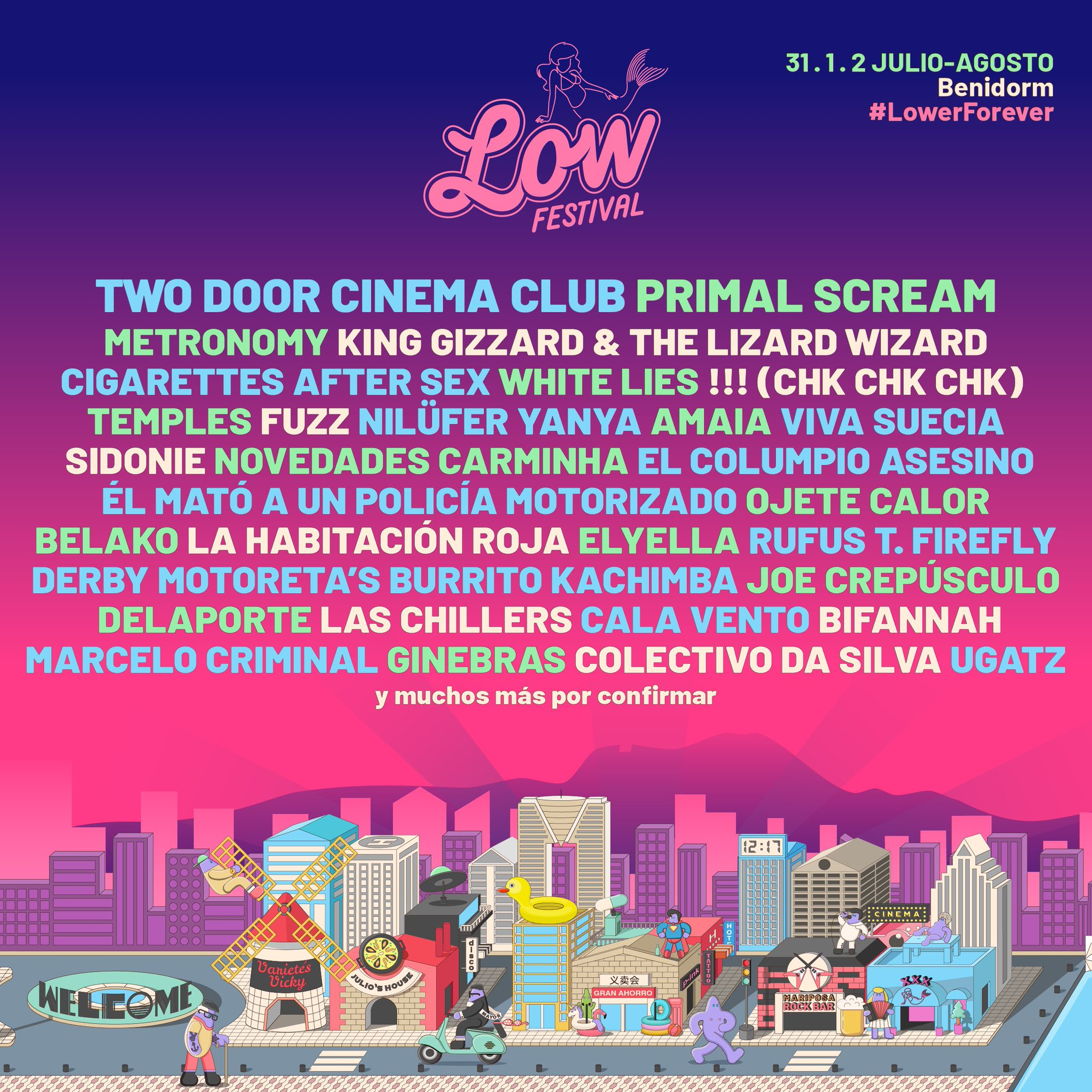 Low Festival 2020: King Gizzard, Fuzz, Primal Scream, Temples, Cigarettes after sex... EQfKVLUWoAAWpGO?format=jpg&name=large