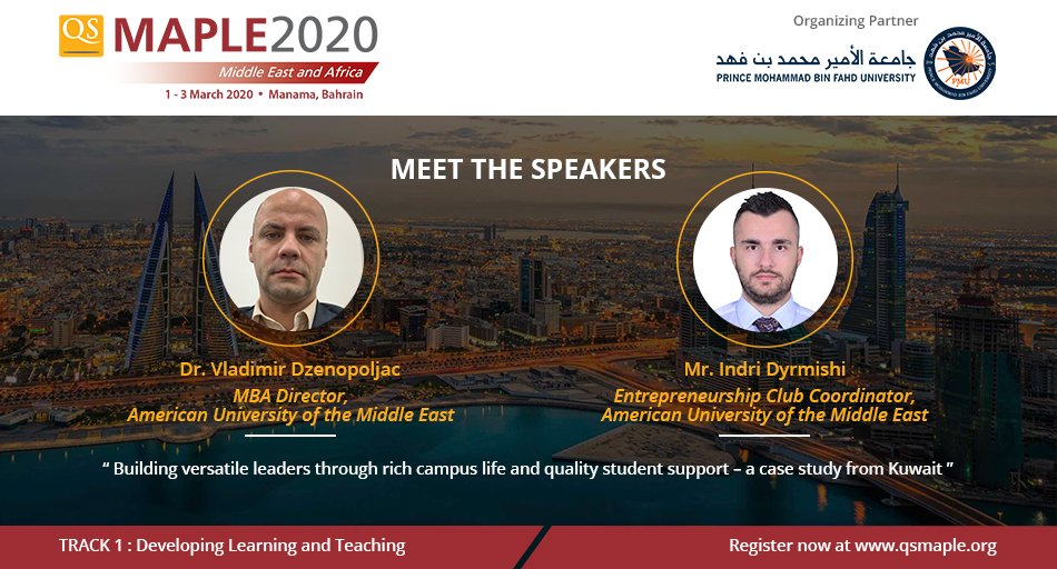We welcome @v_dzenopoljac & @indridyrmishi as #QSMaple2020 speakers ! They will share their insights on a concept of education that tries to achieve optimum study-life balance with the purpose of creating successful versatile leaders.  Register now: http://bit.ly/qsmaple2020 pic.twitter.com/oBk6Er6tim