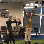 Years 5 & 6 are enjoying a highly original, interactive & humorous version of 'A Midsummer Night's Dream' courtesy of the fantastic @youngshakeco Young Shakespeare Company. #drama #NewBeaconLife #boysattheirbest