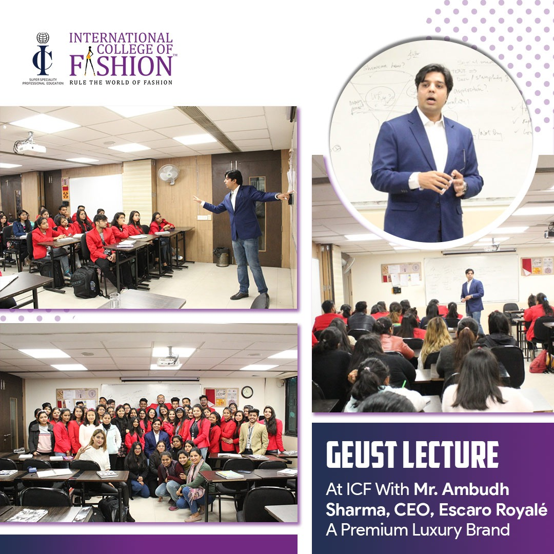 International College Of Fashion On Twitter Guestlecture At Icfindia With Mr Ambudhsharma Ceo Escaroroyale A Premium Luxury Brand At Icf We Design Your Career While You Remain Committed To Designing Fashion Find
