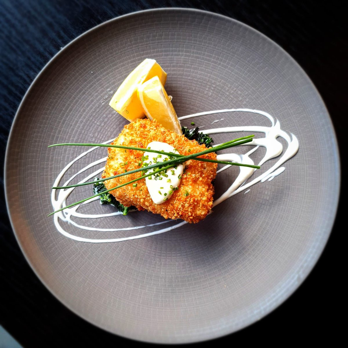 Today's special. Parmesan crusted Cod with wilted kale and garlic chive aioli. Cannot wait to try this. Thanks chef 👩🍳🤩  #dublincitycentre #dublinonourdoorstep #Ourteam #chefgoals #chefteam #dublinfood #dublindining https://t.co/2PPOZaEwVG