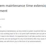 Image for the Tweet beginning: 📌FCoin system maintenance time extension