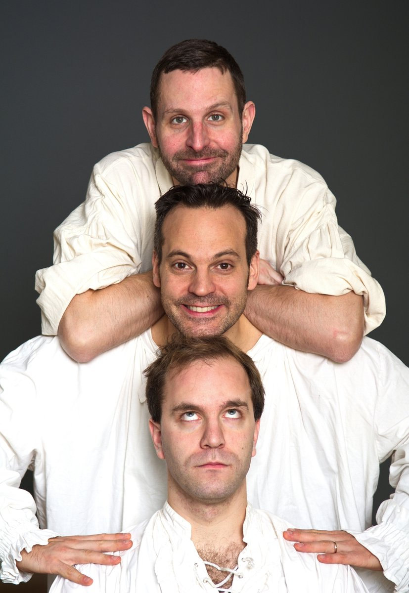 """""""The fool doth think he is wise, but the wise man knows himself to be a fool."""" Whether fools or wise men, these three fearless actors will go on stage as of Wed, 12 Feb and give you: """"The Complete Works of William Shakespeare (Abridged)""""! #theatre #comedy #theaterinhamburg pic.twitter.com/Ea3cAKTq6U"""