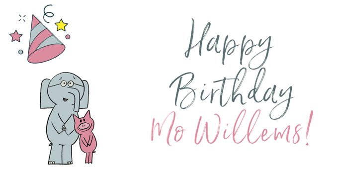 One of our all time fave children\s authors! Happy birthday Mo Willems!