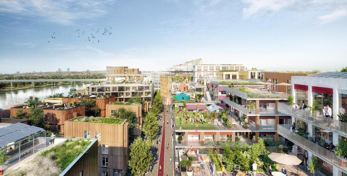 #1jour1ouvrage Zoom sur l'écoquartier fluvial de L'Ile-Saint-Denis @PlaineCoDev, qui accueillera 1 partie du #Villagedesathlètes #Paris2024. Ce quartier mixte, sans🚗, offrira 1 centrale de #mobilité, 1 nouveau parc, une cité des Arts, une base nautique... https://t.co/vP63vXR4T3 https://t.co/U51TySq5ee