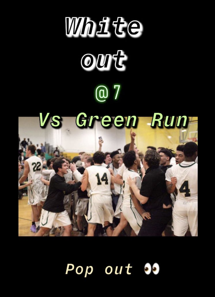 Final home game of the season!!! #WHITEOUT the best !!! @7 pm tonight!