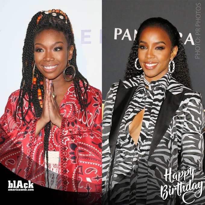 Happy birthday to these queens! Brandy turns 41 and Kelly Rowland turns 39.