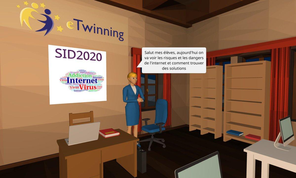 #SaferInternet4EU #eTwinning_plus_Tunisie #SID2020 @MicrosoftEDU @CoSpaces_Edu