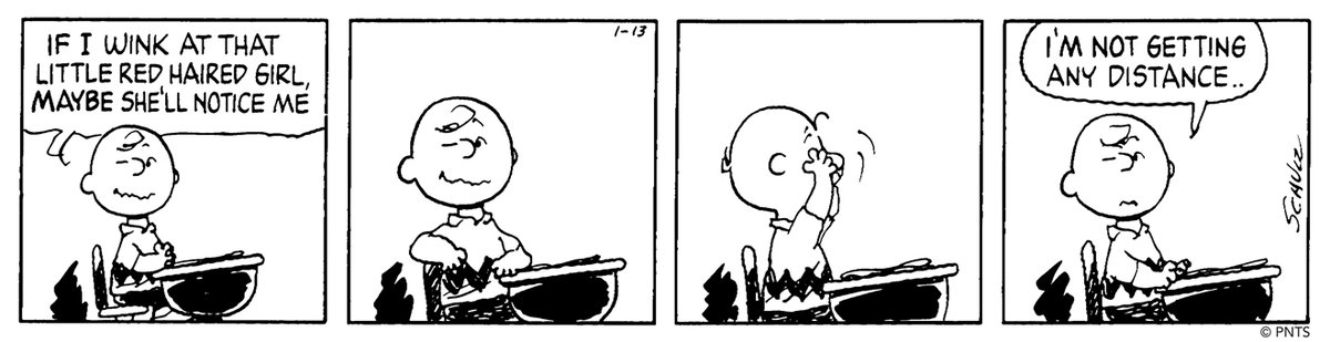 ❤️Free admission on February 14 to Museum visitors with red hair (natural or otherwise)!❤️ Get creative, grab a friend, wear a wig, and celebrate love in honor of Charlie Brown's affection for a certain Little Red-Haired Girl. This strip was first published on January 13, 1987.