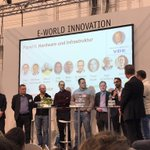Image for the Tweet beginning: Podiumsdiskussion in Halle 4: welche