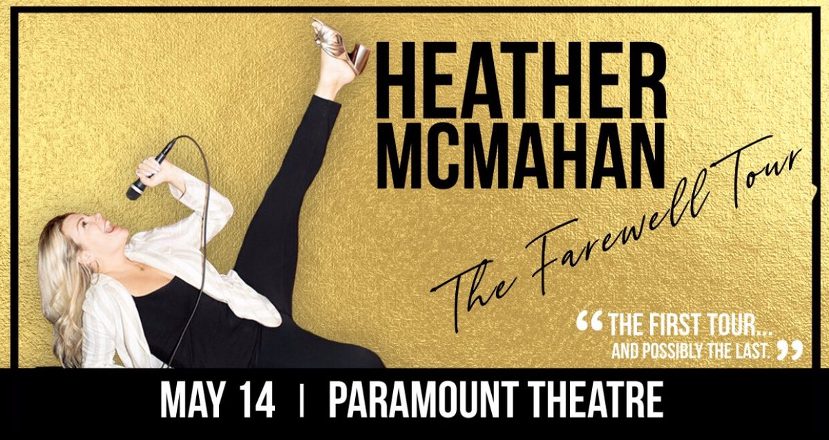 JUST ANNOUNCED: @HeatherKMcMahan : The Farewell Tour at @paramountdenver on 5/14!  Presales start 2/13 at 10 a.m. on  🎟