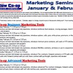 Image for the Tweet beginning: remaining Marketing Seminar dates....