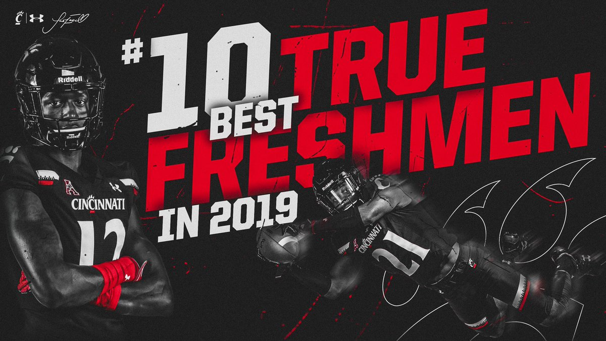 According to @PFF_College rankings, the #Bearcats had the No. 🔟 best true freshmen class in all of college football through the 2019 season.
