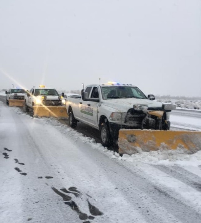 Have no fear New Mexico! Yellowstone is here.  #snow #snowplowing #bringonthesnow!