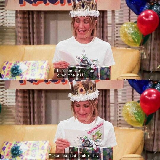 Happy birthday, Jennifer Aniston! Hopefully your 51st is better than Rachel\s 30th