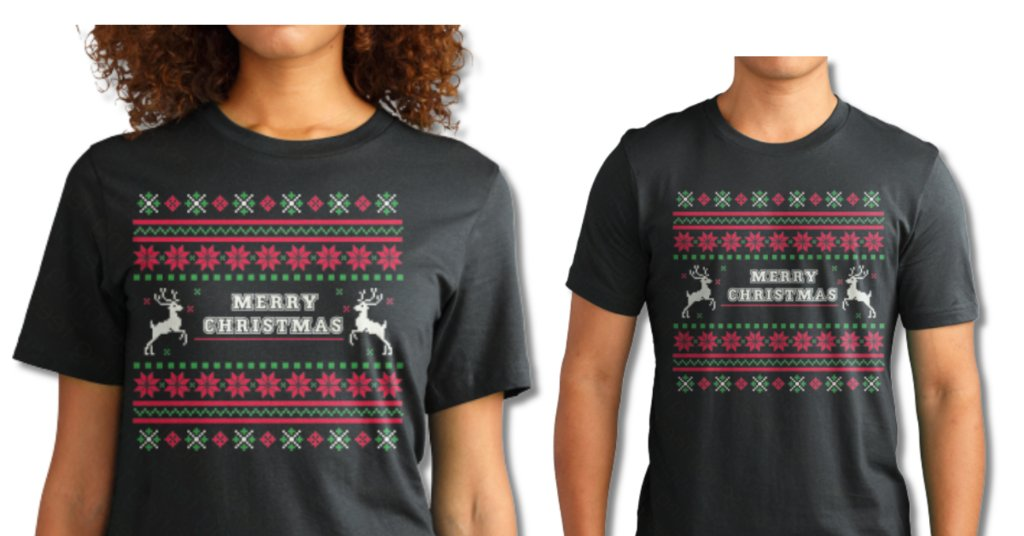 Buy Ugly Holiday Sweaters and T shirts http://bit.ly/1MAnljS #UglyHolidaySweaters #Christmas #uglysweater pic.twitter.com/v7QHy5xEPw