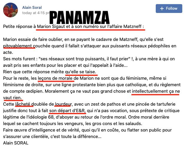 Panamza avait raison : Sigaut quitte Soral