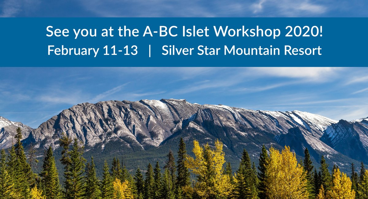 We're attending the Alberta-British Columbia Islet Workshop 2020 at @SilverStarMR this week!  We look forward to listening to this year's keynote speakers and learning about the newest #diabetes research.  We hope to meet you there!  @bcellorg #IsletBiology #ALPCOOnTheRoad https://t.co/dCswosGMFK