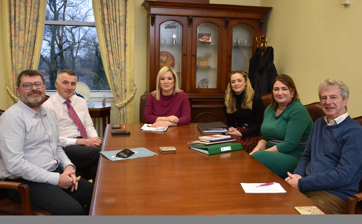 The deputy First Minister @moneillsf and Junior Minister @DeclanKearneySF had a useful meeting with @RelsForJustice to discuss issues for victims and survivors, including victims' payments