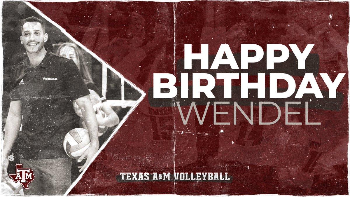 Wishing assistant coach, Wendel Camargo a very HAPPY BIRTHDAY! 🥳🎉🎂 #Trust #GigEm