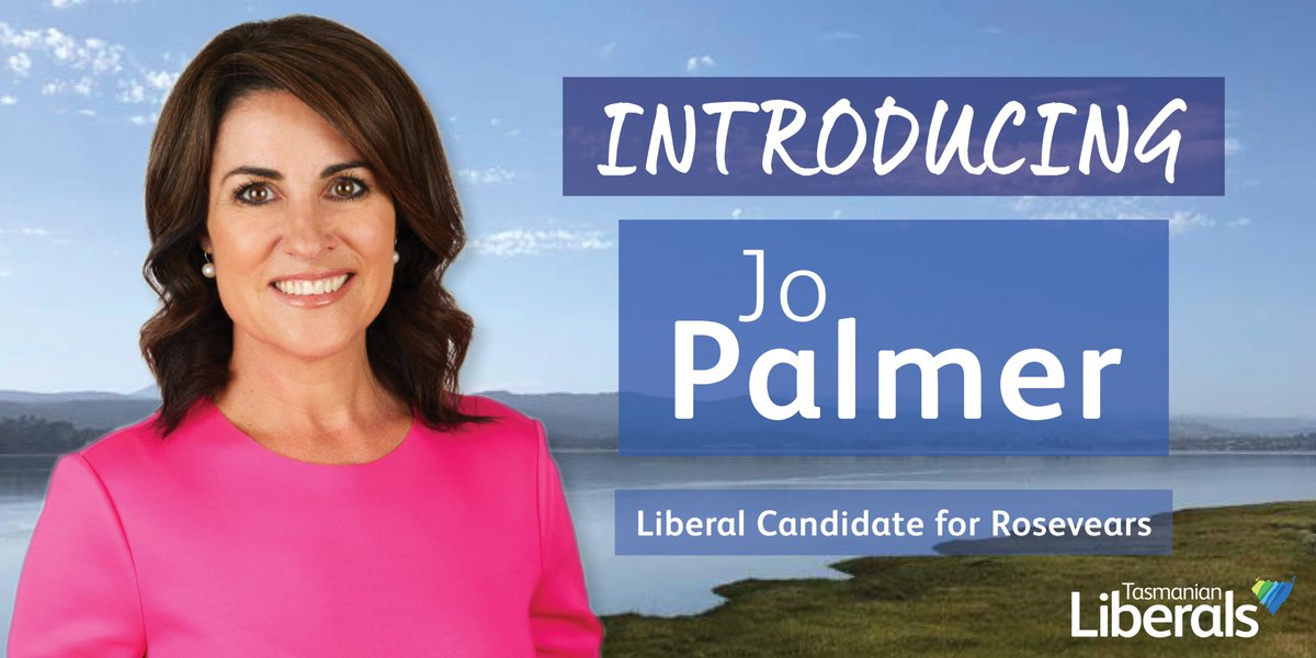 @JoPalmerSCTV is a long-time resident of West Launceston and well-known television newsreader, if elected Jo will be your trusted voice for Rosevears in the Government. #politas
