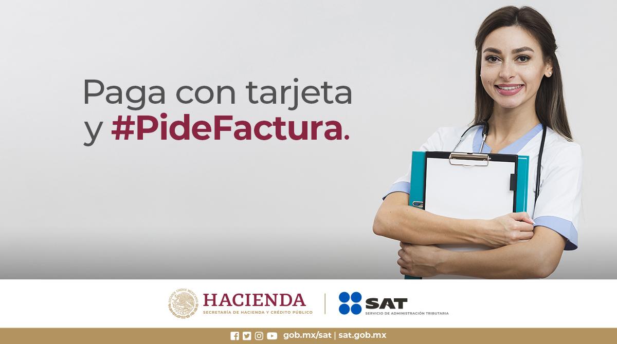 ¡Que no se te pase! 🤓Tus gastos hospitalarios y medicinas que se incluyan en la factura son deducibles ✅Recuerda, paga con tu tarjeta 💳 y #PideFactura 📃