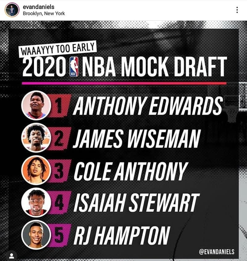 First, Evan Daniels had the vision with his 2020 Wayyy Too Early #MockDraft. Then @theantman05 worked to prove him right. Now we just need the #AtlantaHawks to make it a reality. #atlantaxpress #nbadraft #uga #atlanta https://t.co/9clJUltzrH