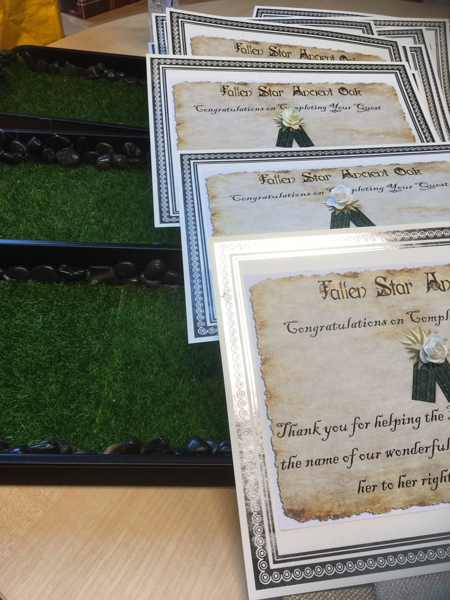 Certificates, gardens and trees ready!