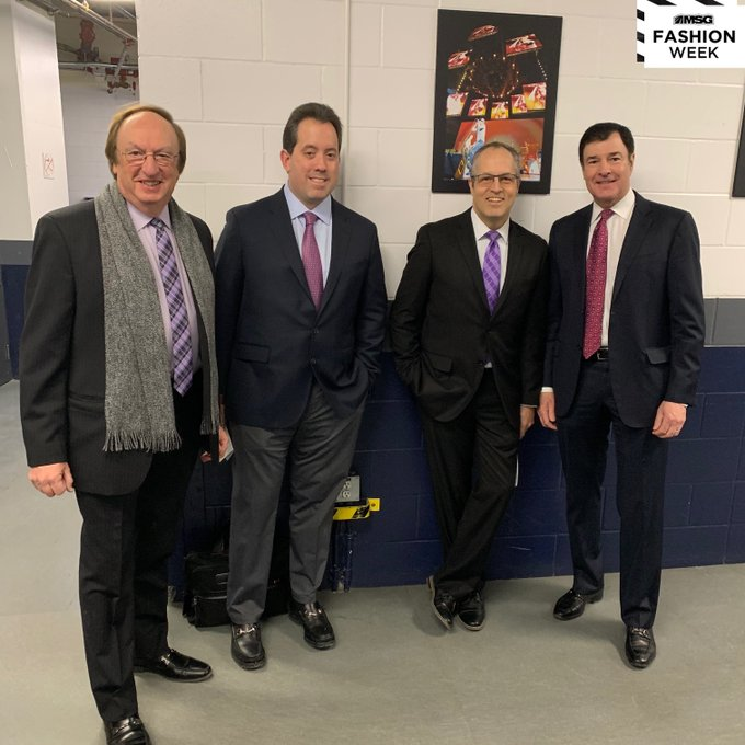 Sam Rosen, Joe Micheletti, Kenny Albert, John Gianonne