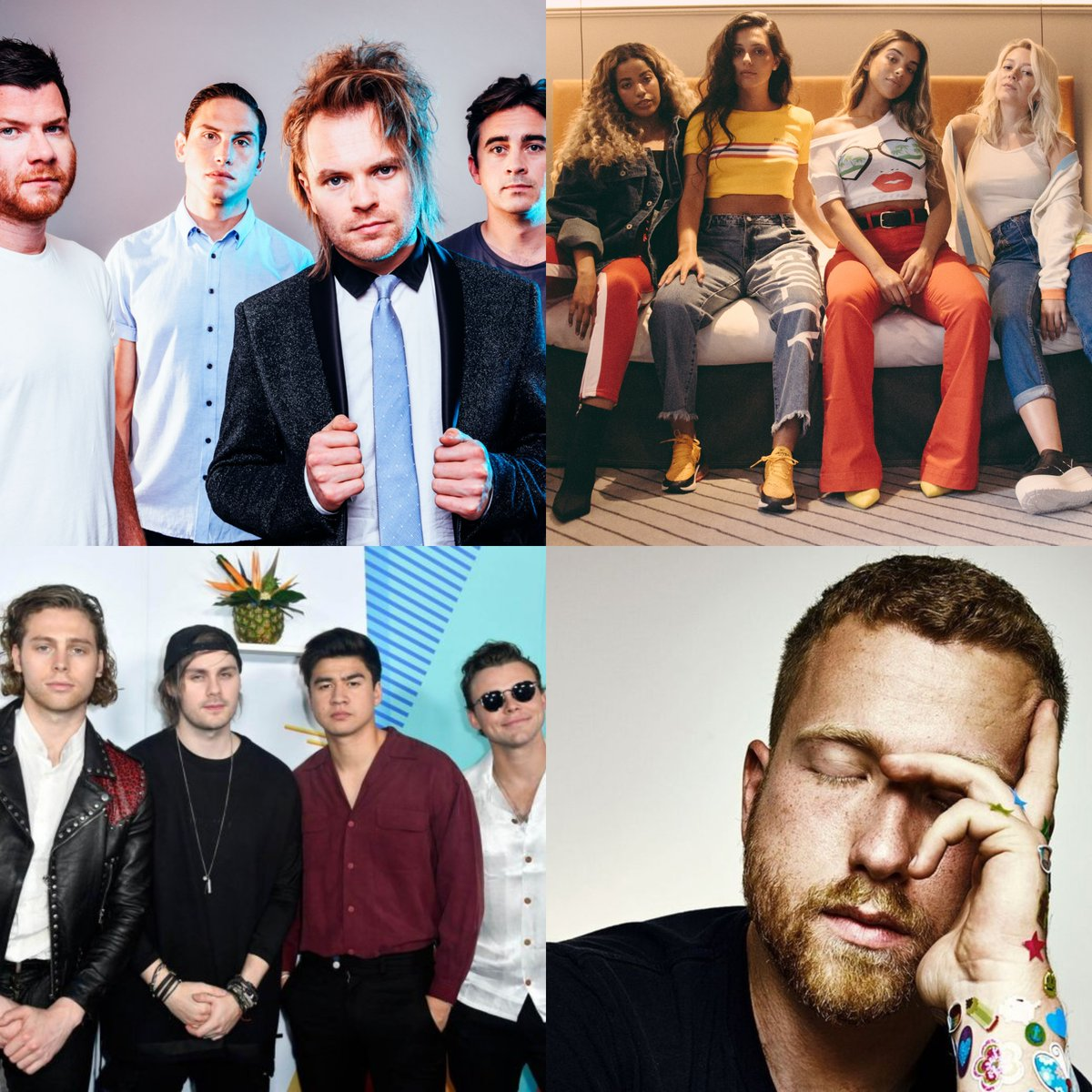 #newmusic with @simonDJwilson from  ✅ @ENTERSHIKARI 🤘 ✅ @FourOfDiamonds 💎 ✅ @5SOS 🌞 ✅ @jpsaxe 🌍  Simon also gives his @BRITs predictions 🏆  All from 4!