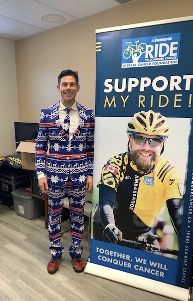 Meet Sean Sweeney, an 8 year Rider who hosted a fundraising event in his office @EFWRadiology to support the amazing work that's being done at the @albertacancer    To Ride with Sean Sweeney and his team, Tom Baker Cancer Conquerors in 2020, click https://t.co/p6x2ZmLhCC ! https://t.co/iIs50N0tpv