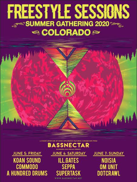🔥 @bassnectar is bringing his 'Freestyle Sessions' to our stage on 6/5, 6/6 + 6/7 with some very special guests 🔥 Tickets on sale this Friday at 10am