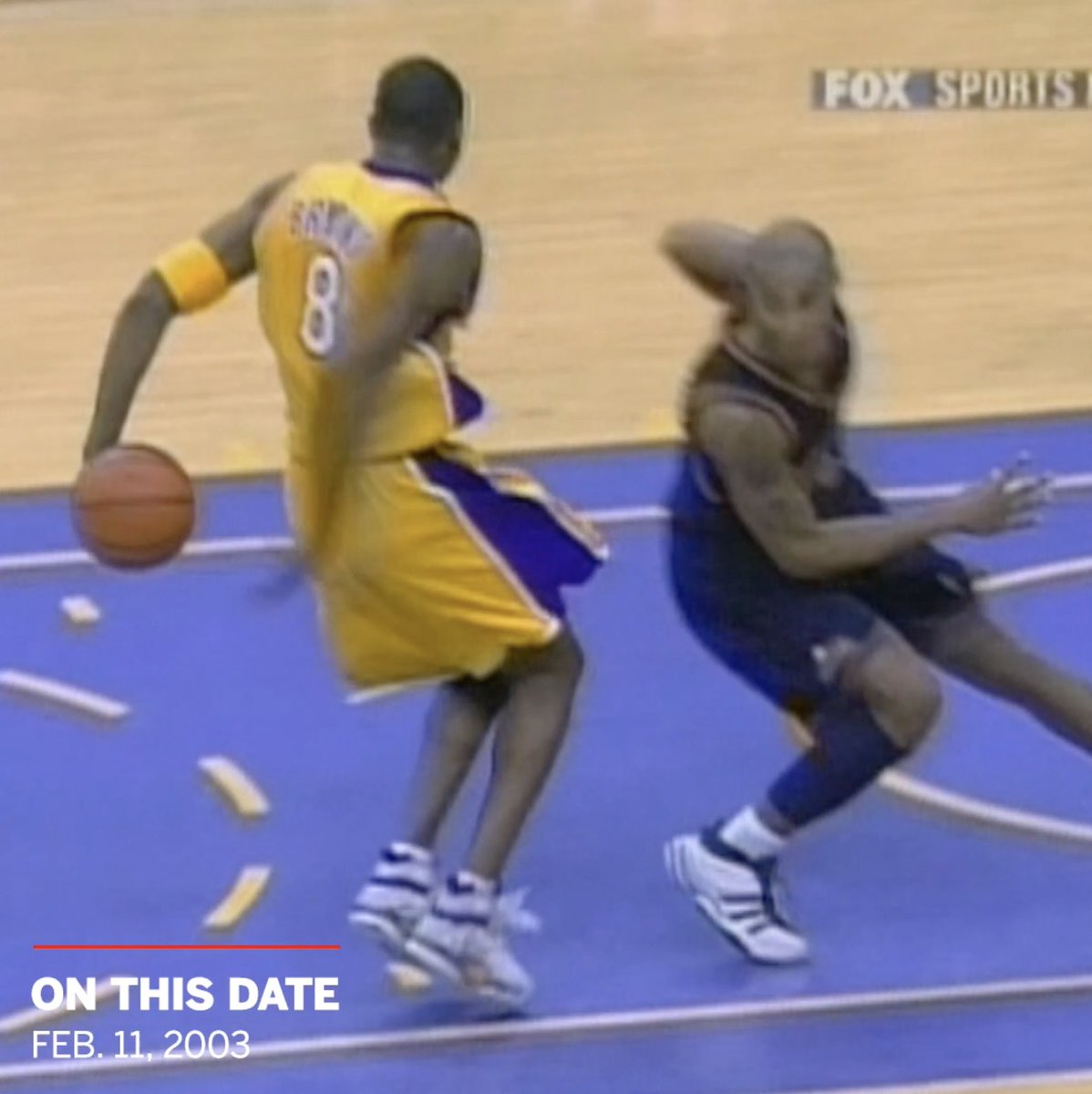 Kobe hit the behind-the-back reverse dunk 17 years ago today 💥 Legendary 🐍