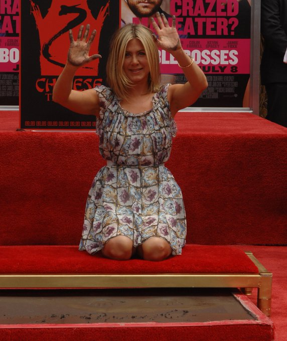 Happy birthday Jennifer Aniston! She\s pictured at her imprint ceremony in 2011.