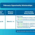 Image for the Tweet beginning: ⭐ Opportunity Scholarships for Juniors