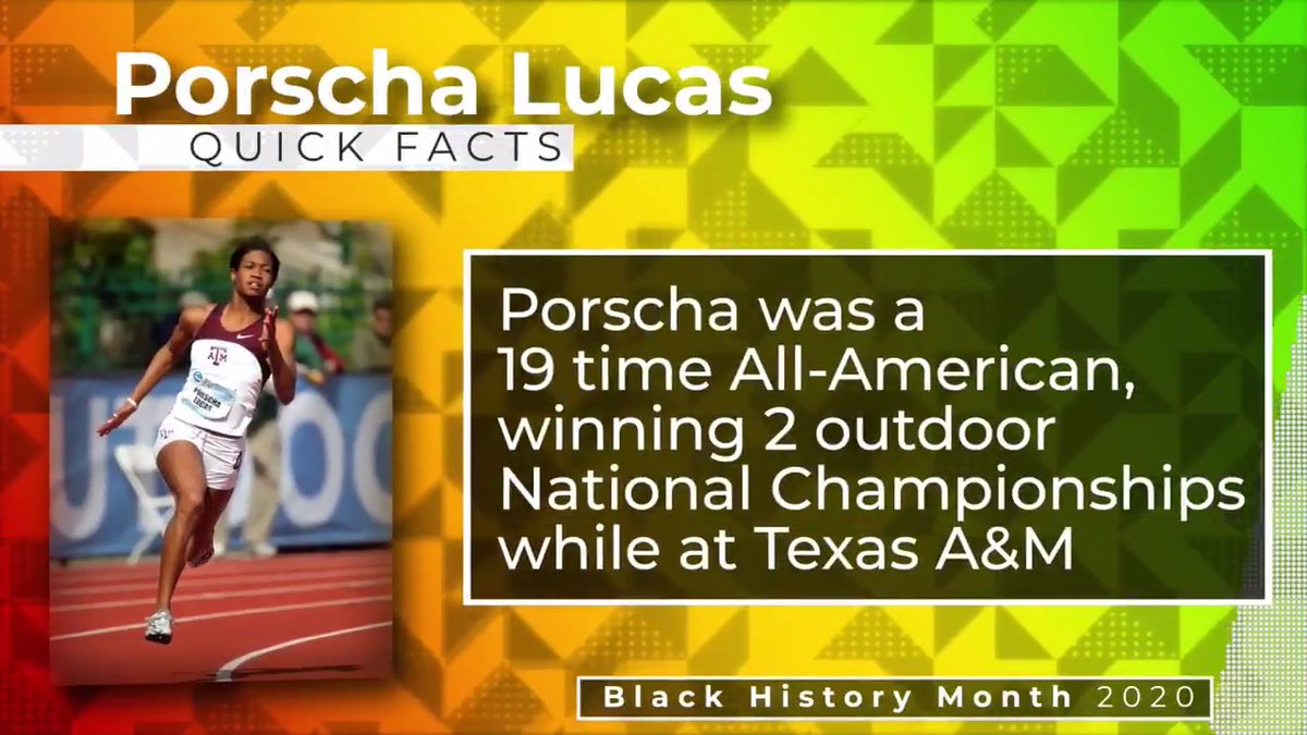 Celebrating one of A&M's all-time greats, @_PorschaRenee! #BlackHistoryMonth | #GigEm